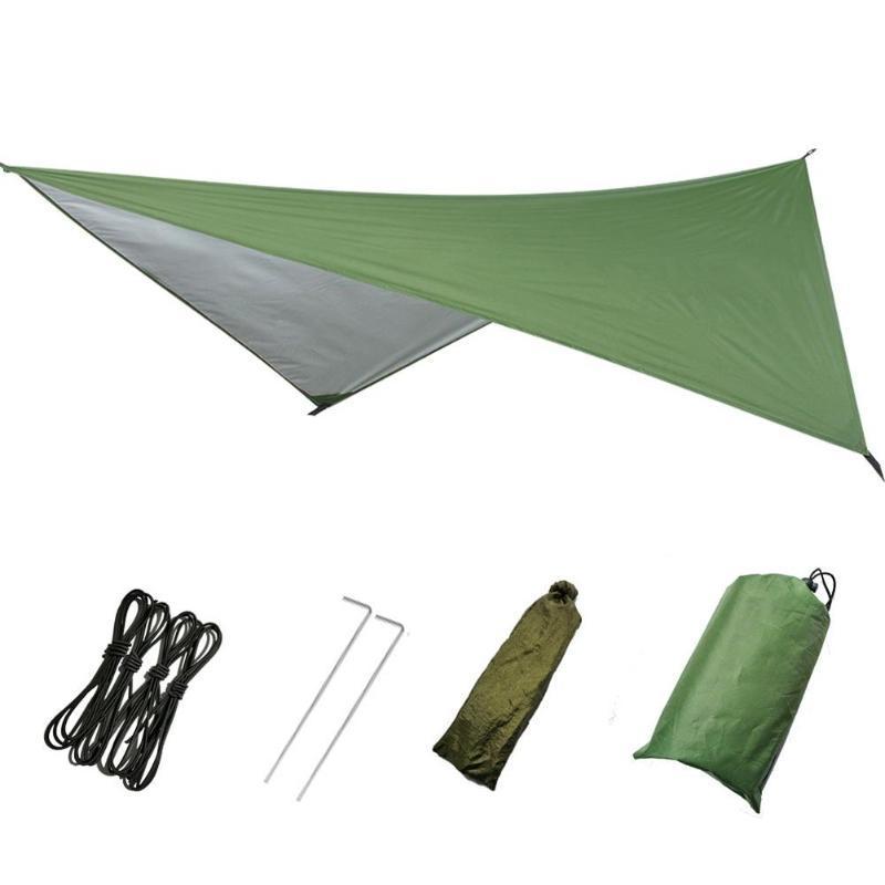 Tissu extérieur Canopy 270cm * 270cm imperméable Grande légère tente de camping Tarp Abri pluie hamac Cover ombre soleil