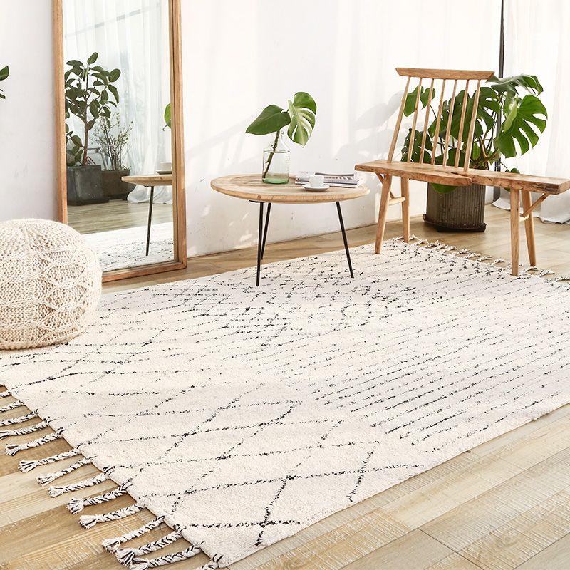 Indien Handgemachte Teppiche Wohnzimmer Türkei Nordic Haus Schlafzimmer Teppich Kilim Teppich Bodenmatte Study Room Marokko Teppich mit Quaste