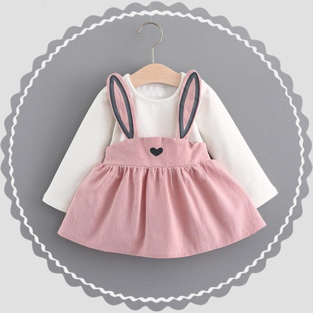 0-3 Years Old Autumn Baby Kids Toddler Girl Cute Rabbit Bandage Suit Mini Pullover Dress 827UWEQ Deals
