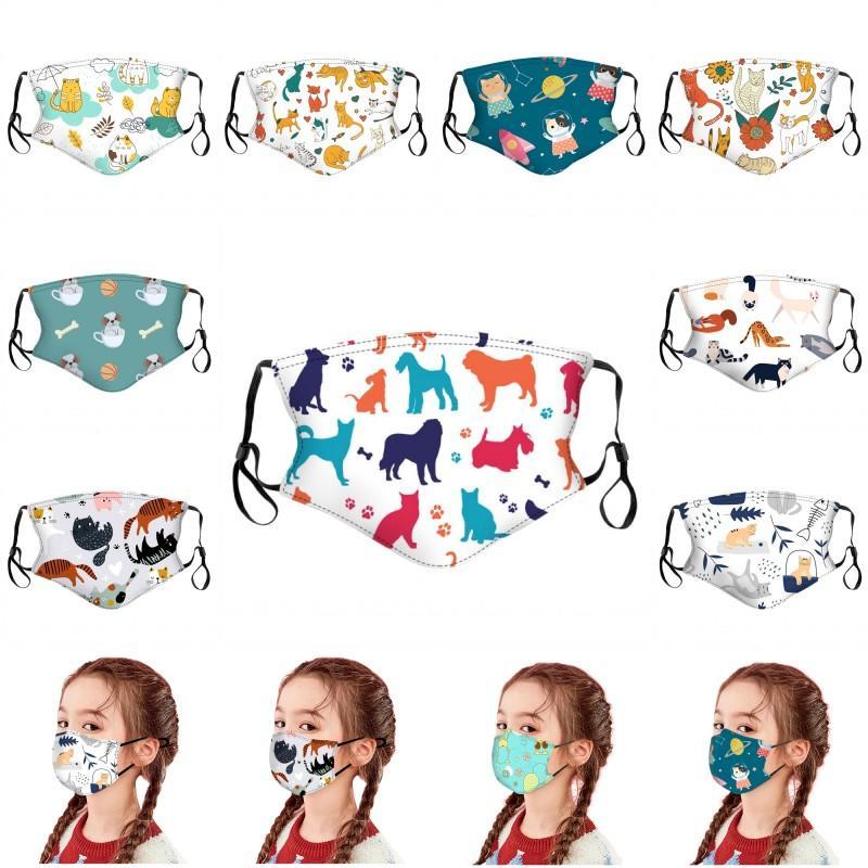 DHL bambini antinquinamento Maschere Kid PM2.5 fumetto Bocca maschere per il viso del bambino riutilizzabile lavabile del fumetto Mask 10 stili HHF1592