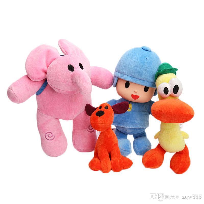 4pcs/Lot 14-25cm Pocoyo Elly & Pato POCOYO Loula Stuffed Plush Doll Toys Kids Gift NOOM001