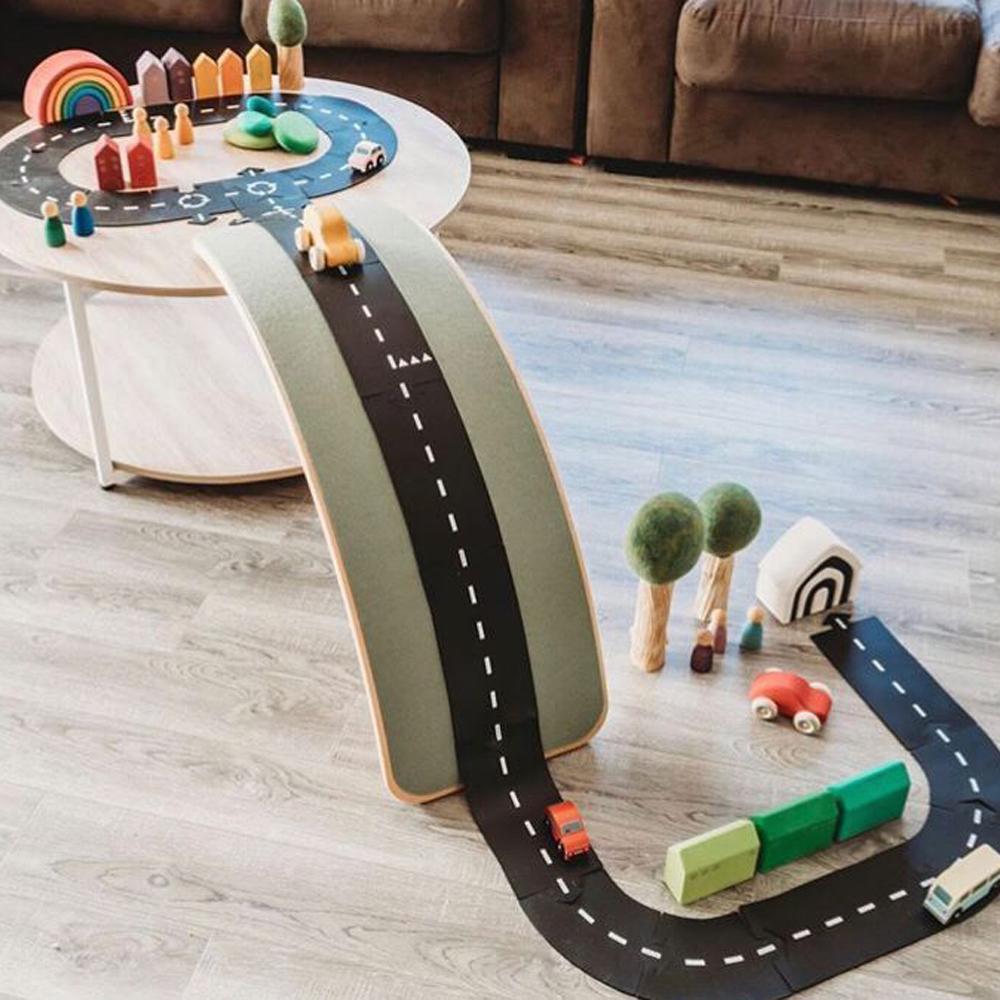 Stitching Car Track Puzzle Spielen Mat Autobahn Bau PVC Kinder Playmat Lernspielzeug für Kinder Spiele Teppich 200925