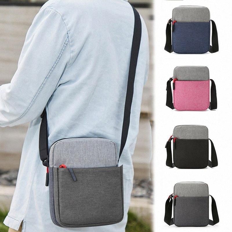 Uomini spalla sacchetto impermeabile Tasche Anti Theft grande capacità all'aperto Messenger Bag J9 vZVd #