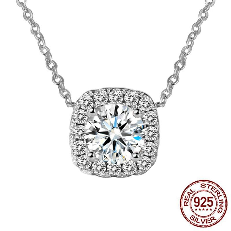 2020 nNew luxury round solid 925 sterling silver Necklace for women lady anniversary gift jewelry wholesale XN133