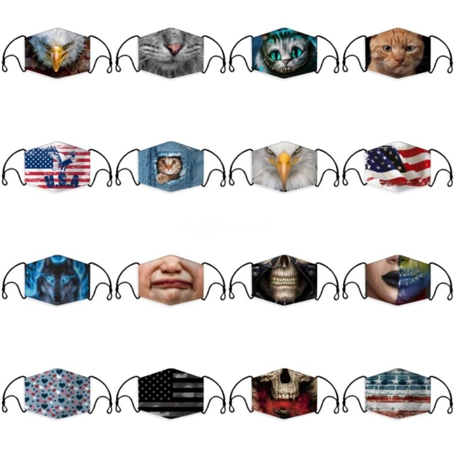 Waschbare Schutzgesichtsmasken Schwarz Wiederverwendbare Kinder Erwachsene Designer Anti-Staub-Gesichtsmasken Tuch Baumwollkind Mode Mund Masken FY9041 # 699