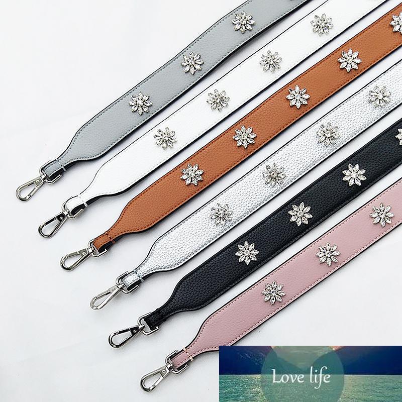 Diamants fleurs accessoires du sac de pièces de sac de sacs de dames pour femmes femmes sacs pièces PU ceinture en cuir