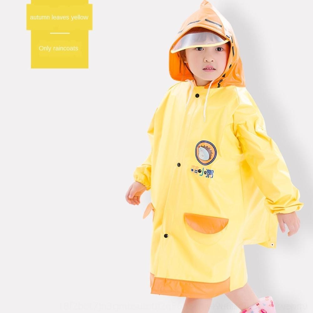impermeabile FObAt bambini con mantello sveglio dell'alimento del PVC nuovo ispessito grande poncho Mantello cartella studente bambino un pezzo all'orlo