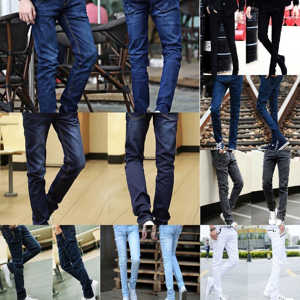 wiwkg Hose dünne Jeans Herren-Hosen und Frühling Hosen Hosen-Stil trendy Knöchel koreanischen gewaschen Jugend Schlankheits NpciN