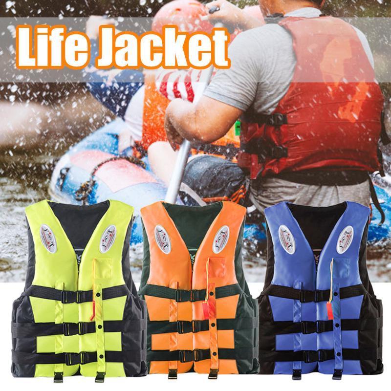 Nuotare battello alla deriva Sci Vest con il fischio S-XXXL Formati di acqua di sport Giacca uomo Poliestere adulti Life Vest Jacket # YL5