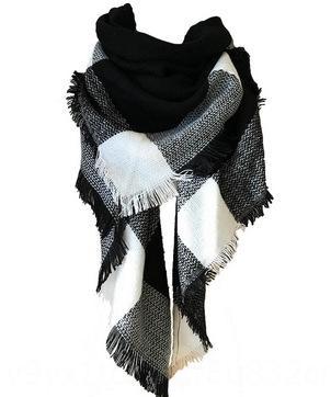 qp0jp Nuova stella con il colore sciarpa quadrata dello scialle sciarpa delle donne camuffamento grande plaid scialle