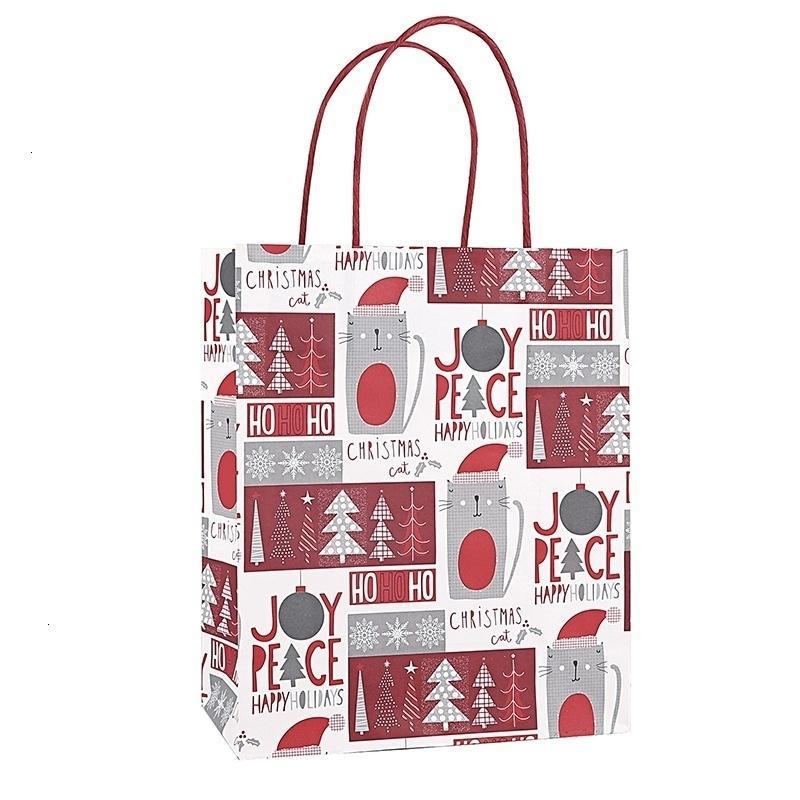 Kraft'ın 12pcs Noel Kağıt Treat Şeker Çanta Düğün Favor Hediye Paketi Ytxs