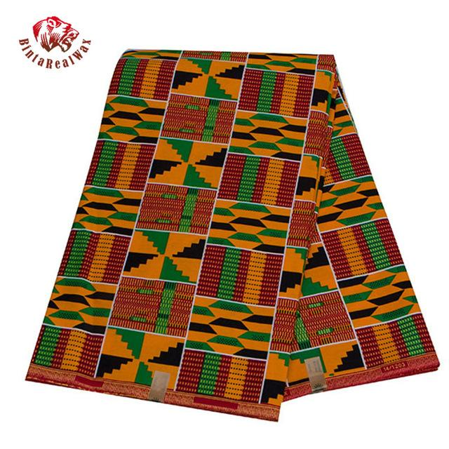 6 Yards Анкара African Real Восковой печать Ткань Дешевой-Ткань Бинт Real Воск высокого качества Африканской Ткань для платья партии 24FS1380
