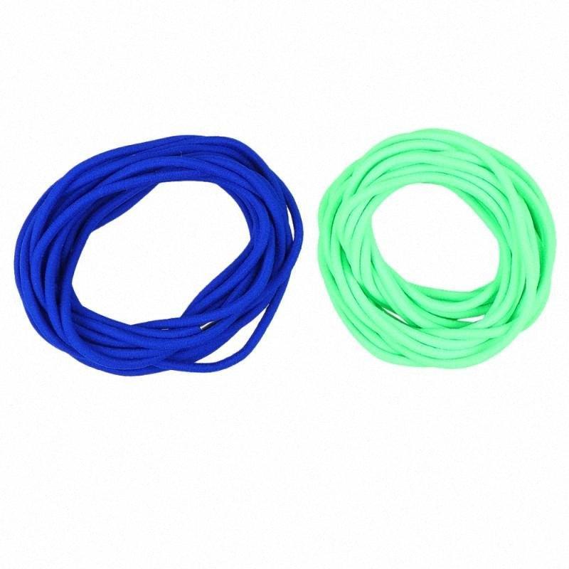 2шт Дети скакалка игрушка Студенты Перейти Резинку игрушка Смешной резинки Skipping игрушка для школы на улице (5 метров, зеленый GSvz #