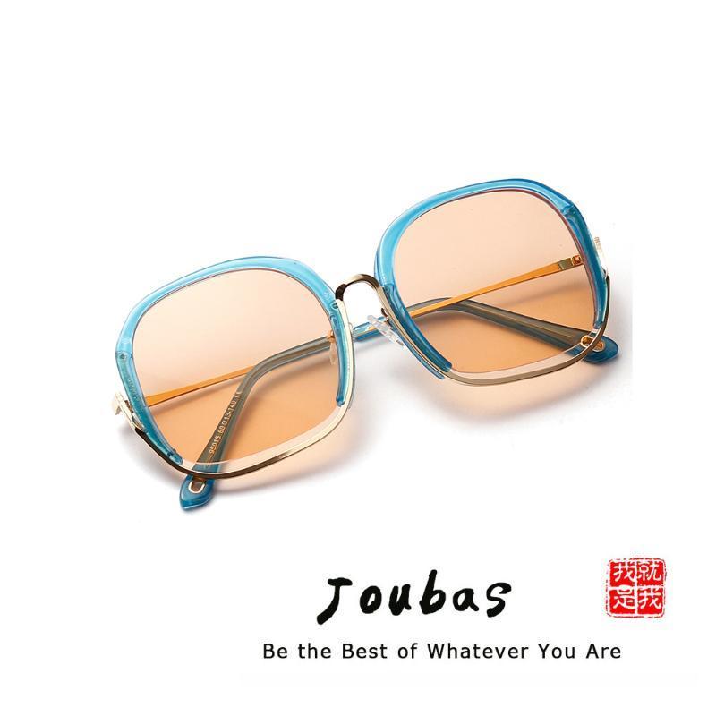 Joubas Deciner Sonnenbrille Damen Gläser Übergroße 2020 Klare Frauen Eyewear Hälfte Mode Rahmen Sonne für Shades Marke Rosa Quadrat XOXCR