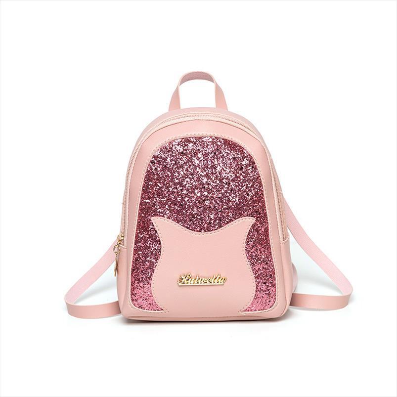 Meninas pequena mochila 2019 Marca Moda Brilhante Lantejoula Bolsa de Ombro Mulheres Multifuncional Mini Voltar pack para Meninas Adolescentes Crianças
