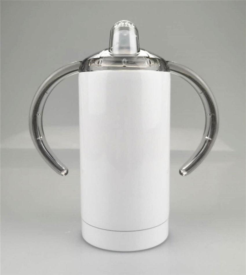 2020 12OZ التسامي سيبي الكؤوس الفولاذ المقاوم للصدأ زجاجات المياه مقبض أطفال الرضع الحليب الأقداح معزول القهوة الأقداح الطفل البهلوانات A12