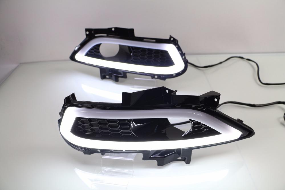 Osmrk led drl daytime running light for Ford Mondeo Fusion 2013 2014 2015 2016, wireless switch, yellow turn signal