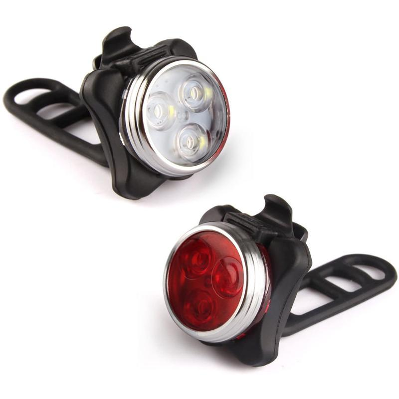Bike Lights 4 Modes Bicycle Light Built-in Battery Rechargeable USB LED With Mount Accessories