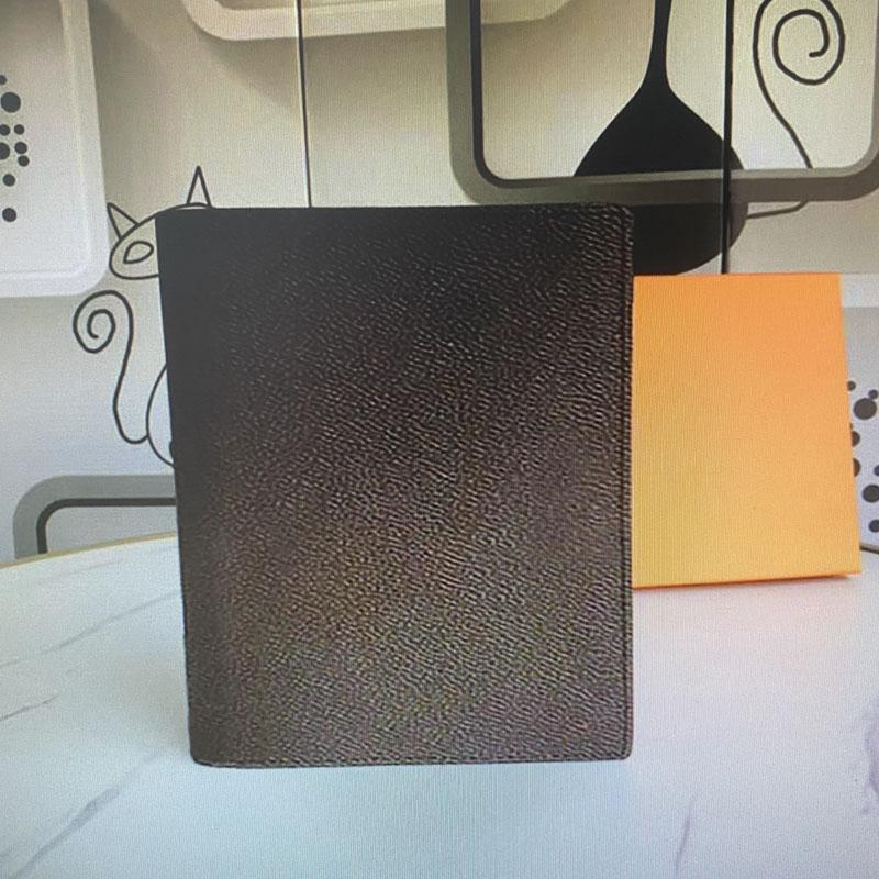 مكتب R20100 مذكرة المتوسطة جدول أعمال المفكرة تغطية ورقة بيضاء محمول حقيقي جلدي مجلة بطاقة الائتمان و Jotter فتحات حامل مربع مع
