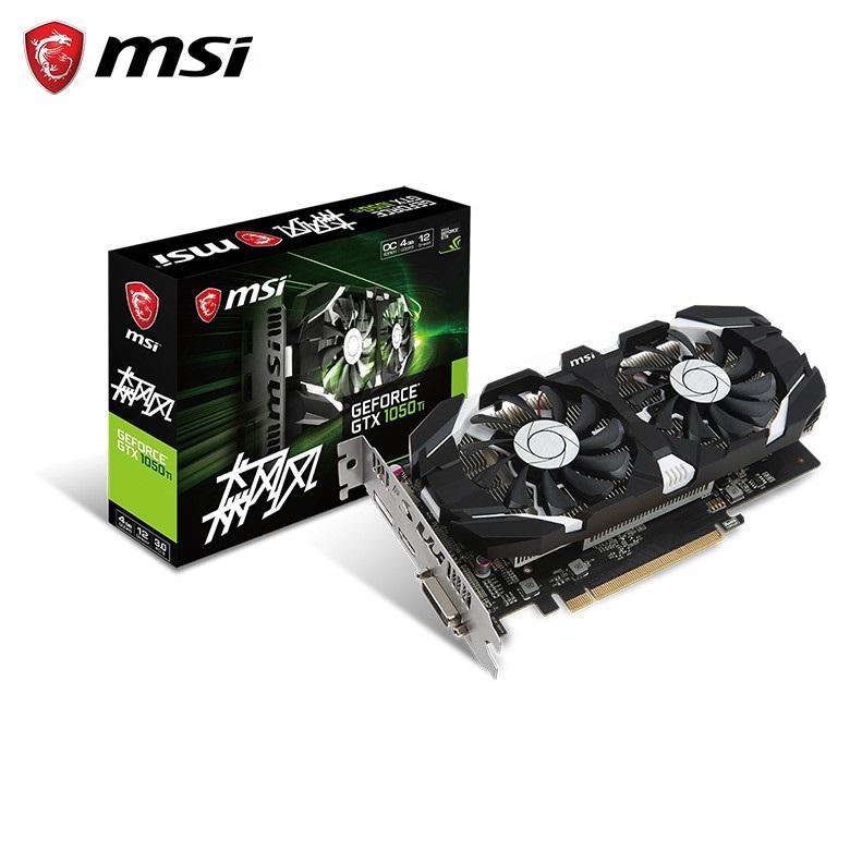 MSI / MSI GTX1050Ti 4 g de juego oficina de gráficos de ordenador de sobremesa pequeña tarjeta de Nvidia GPU de vídeo DDR3 P
