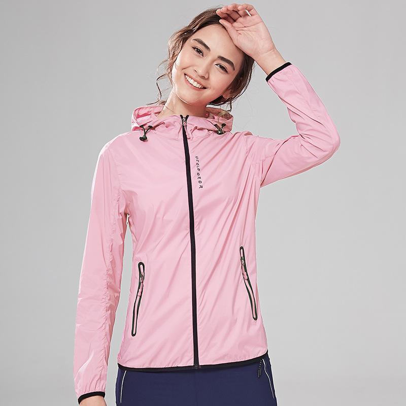 Sommer Jacke Frauen Kleidung ultradünne Breathsonnenschutz Strand Jacke Langarm Hooded Zipper Windjacke TA1835