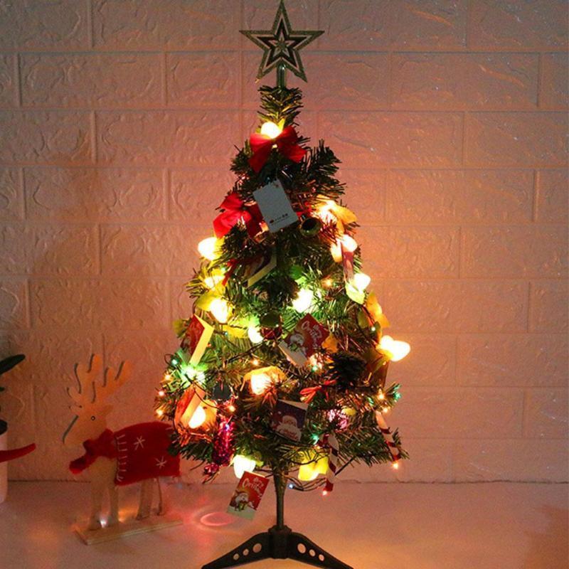 60CM artificiale luminoso albero di Natale con pendente Desktop decorazione domestica Capodanno Centri Commerciali delicato Festival Decor UE