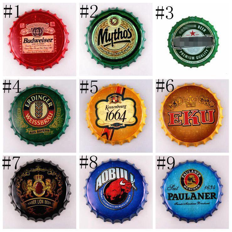 Beer Restaurant poster Bottiglia Bar Coffe Vintage Shop Birra Artigianale disegno della protezione del metallo Iscriviti Corona Per protezione rotonda Tin Bar Extra Lxl30 eIXEKd