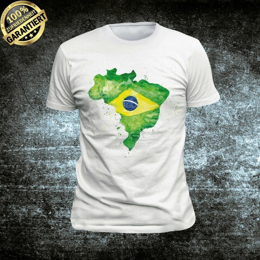 Tişört Brezilya Brasil Brezilya Güney Amerika Güney Amerika En Yeni 2019 Erkekler'S Moda Print Erkekler Yaz Stili Tasarım Tişört