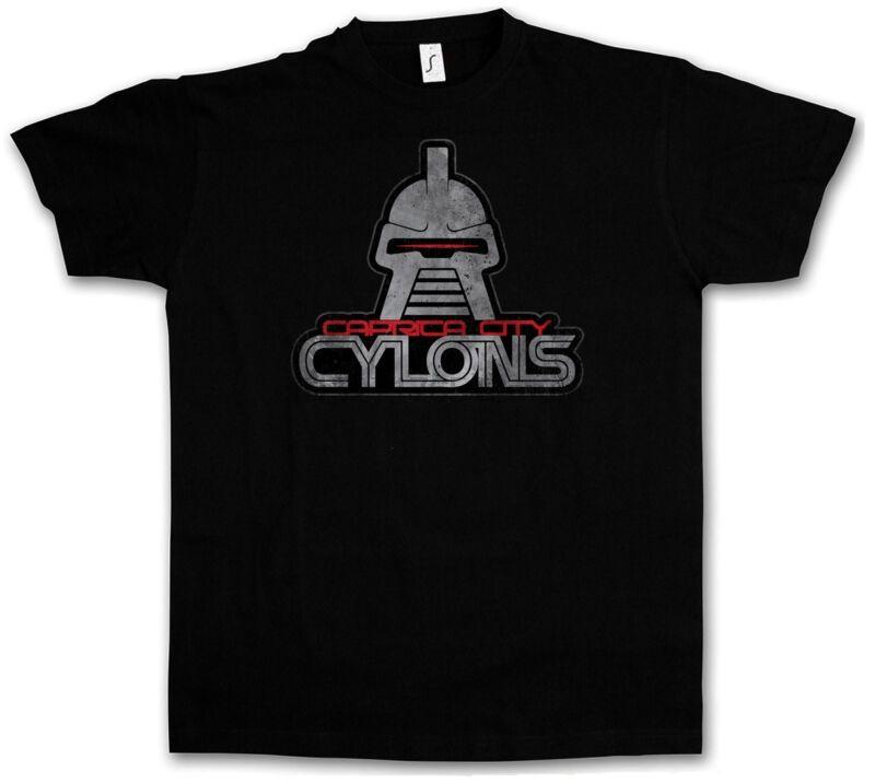 CAPRICA CIUDAD Cylons CAMISETA - Galactica Battlestar Serie de TV Kampfstern camiseta