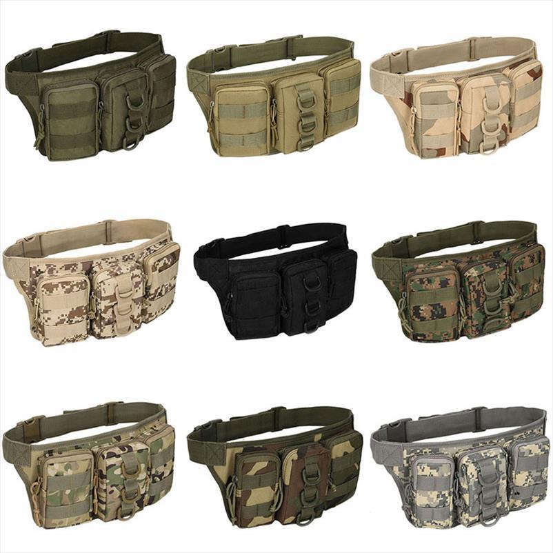 THINKTHENDO Oxford kumaş Programı Bel Paketi Kese Askeri Çanta Kemer Çanta Fermuar Bel Paketi Çanta Erkekler
