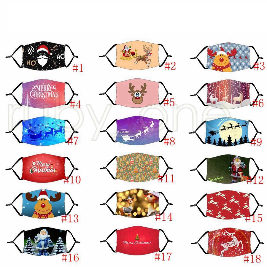 أقنعة حفلة عيد الميلاد تأثيري مع تصفية قابل للغسل جوكر الوجه قناع الطباعة الرقمية قناع هالوين حماية القطن قناع 18styles RRA3555