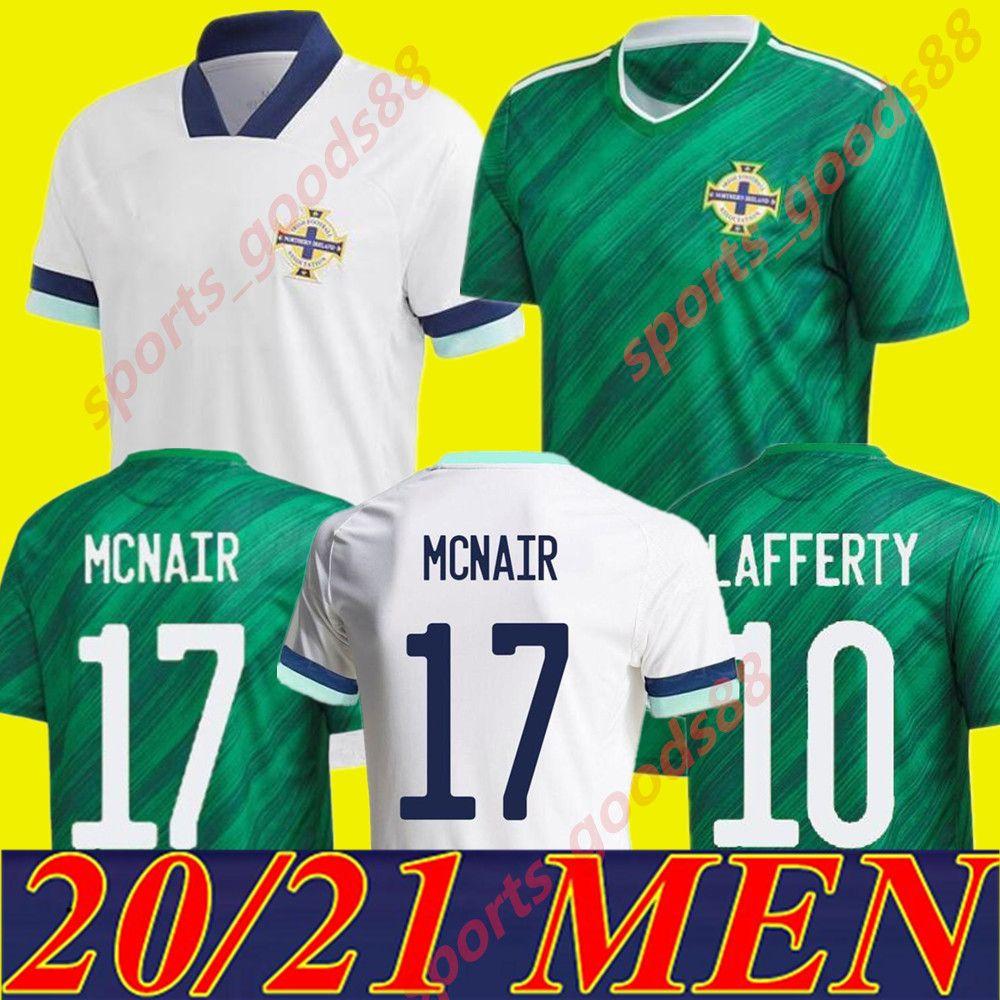 2020 2021 Irlanda do Norte Jerseys de futebol Evans Lewis Saville Davis Whyte Lafferty McNair Home 20 21 Maillots Football Shirts