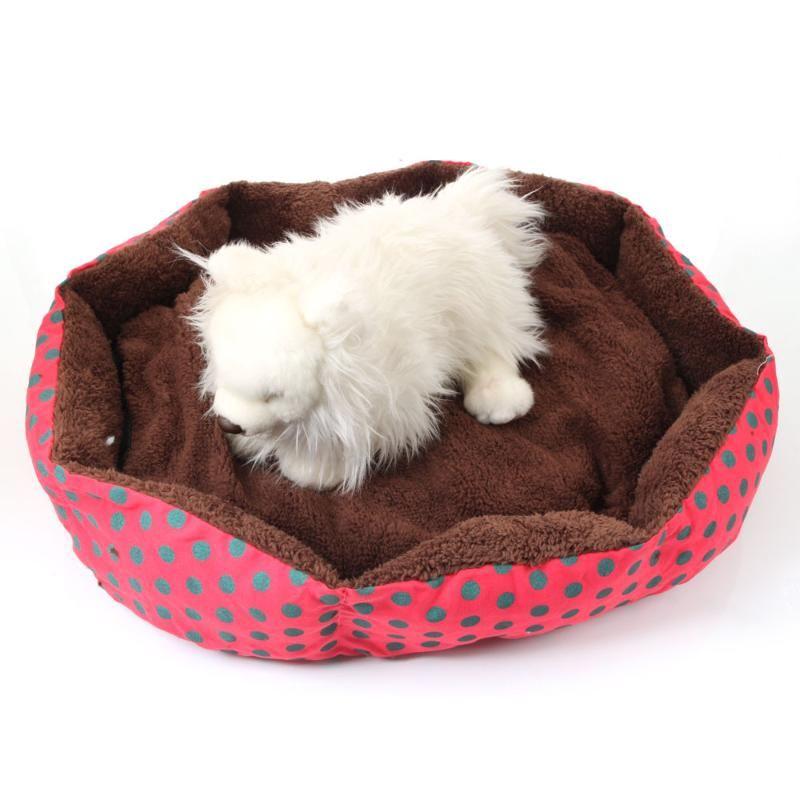 Kennels Stylos Soft Dog Lit Dog Modèle Nice Point de point Octagonal Flanellette Coton Pet pour chats Lits Convient moins de 5 -6 kg