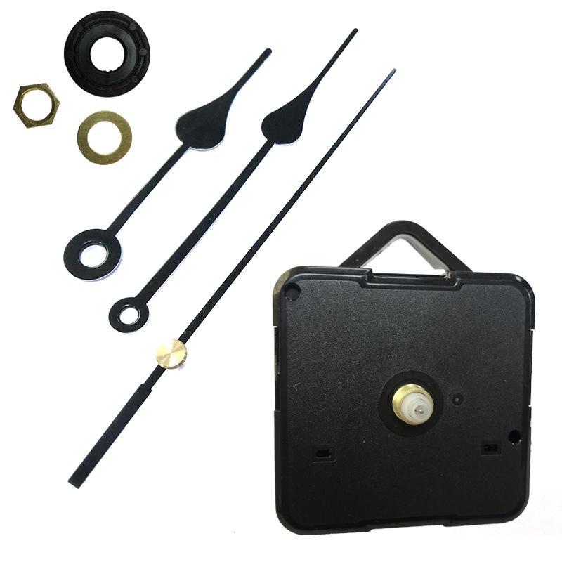 Startseite Uhren DIY-Quarz-Taktgeber-Bewegungs-Kit Schwarz Uhr Zubehör Spindelmechanismus Reparatur mit Handset Schaftlänge 13 Top DWA1532