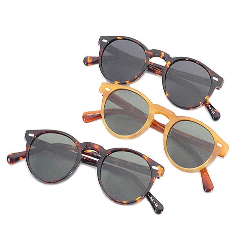 Turno Gregory Peck Occhiali da sole Retro quadro Ov5186 uomini polarizzato Vintage Occhiali Donne guida i vetri chiari acetato Eyewear Ch01