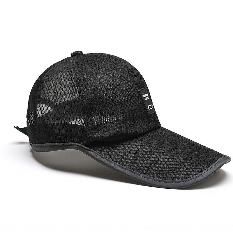 17HRx soleil d'été de baseball masculin Hat chapeau style coréen crème solaire tout-match de maille soleil décontracté respirant à séchage rapide des hommes casquette de baseball prot