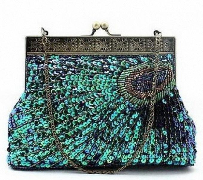 Ручной Sequined Бисероплетение Peacock муфты, мешок вечера, мешок партии, сумки Totes сумки конструктора сцепления С, $ 21,04 | DHgate.Com TrrF #