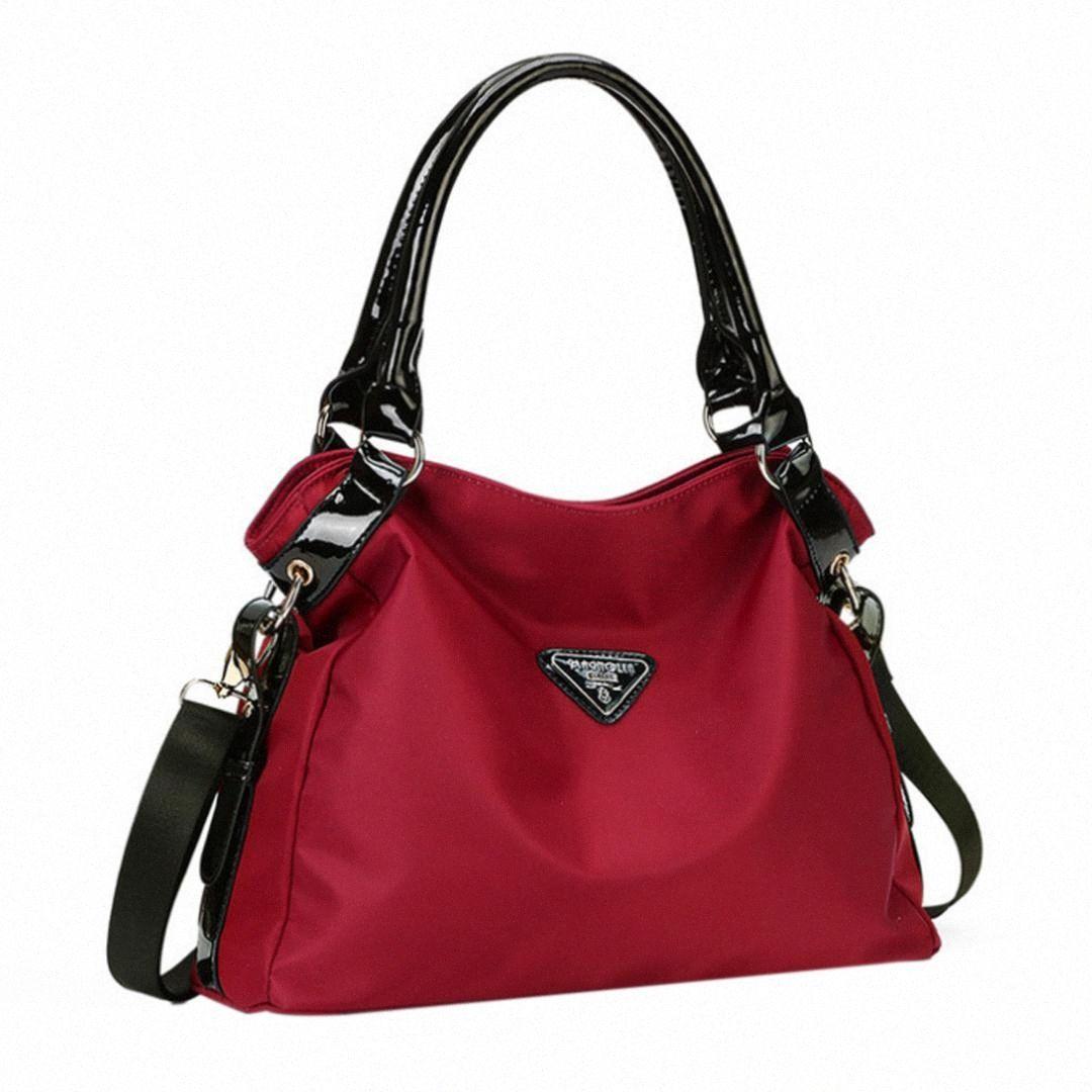 Mujeres de los bolsos de gran capacidad Oxford tela impermeable bolso de mano individual ShoulderCross cuerpo caliente bolsa uL4a #