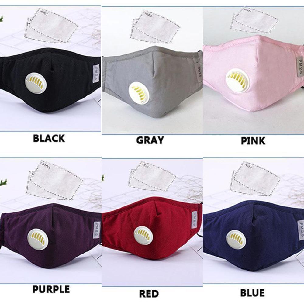 Cotton 100pcs Reusable Adjusable Face Masks Designer Pm2.5 Protective 2pcs 5layers f Cikg