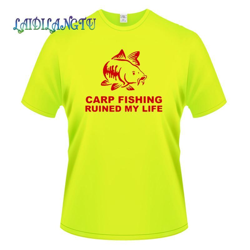sazan balıkçılık harap My Life Erkek tişörtleri Artı boyutu Tee Gömlek Homme Yaz Kısa Kollu Erkek T Shirt Erkek tişörtleri