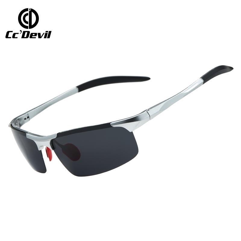 Discolor deportes Chameleon Sun Gafas de sol Polarizadas Hombres Gafas Marca Hombres para Gafas de sol cuadradas de moda clásicas de moda CXWOF