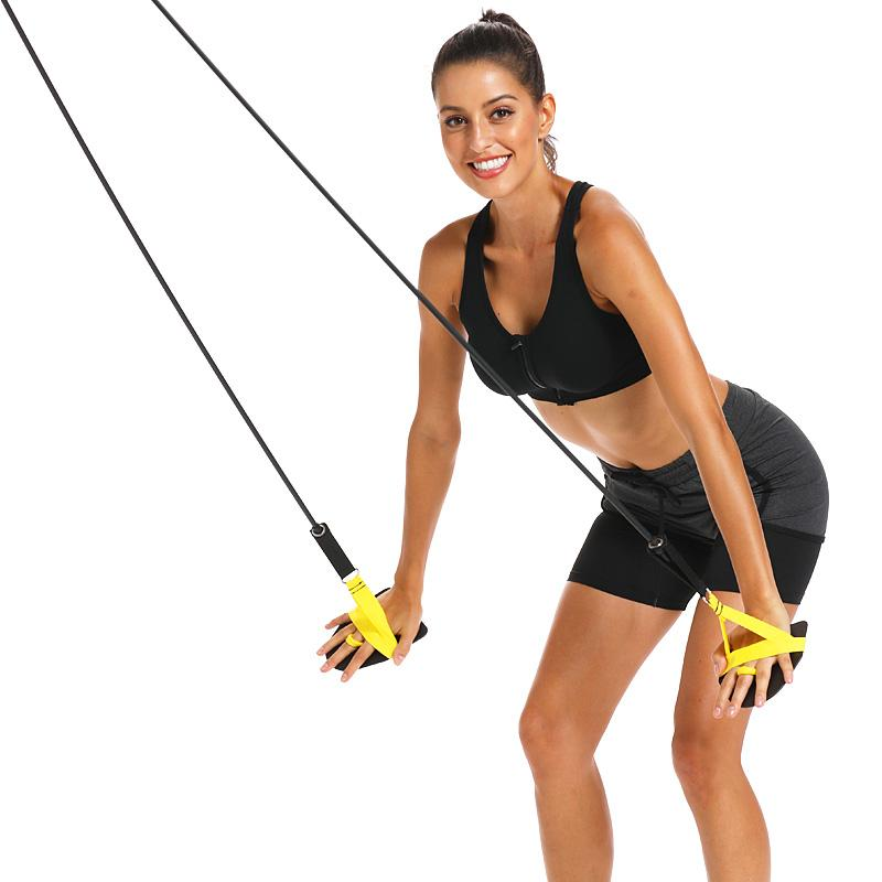 Bandas de resistencia de la aptitud Natación fuerza del brazo Trainer Estiramiento de Pilates tire de la cuerda al aire libre Gimnasio tubos para entrenamiento de los músculos