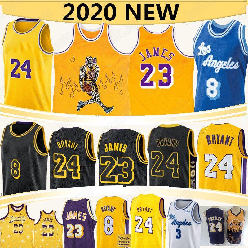 ليبرون جيمس 23 كرة السلة بالقميص NCAA انطوني ديفيس 3 2020 جديد الرجعية ردة التوقيع مامبا الأسود جيرسي