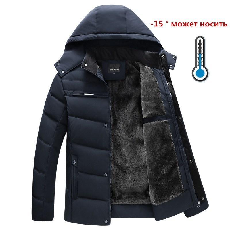 Neue Winterjacke -15 Grad verdicken warm Männer Parkas mit Kapuze Vlies Mann Jacken Outwear Baumwollmantel Parka Jaqueta Masculina