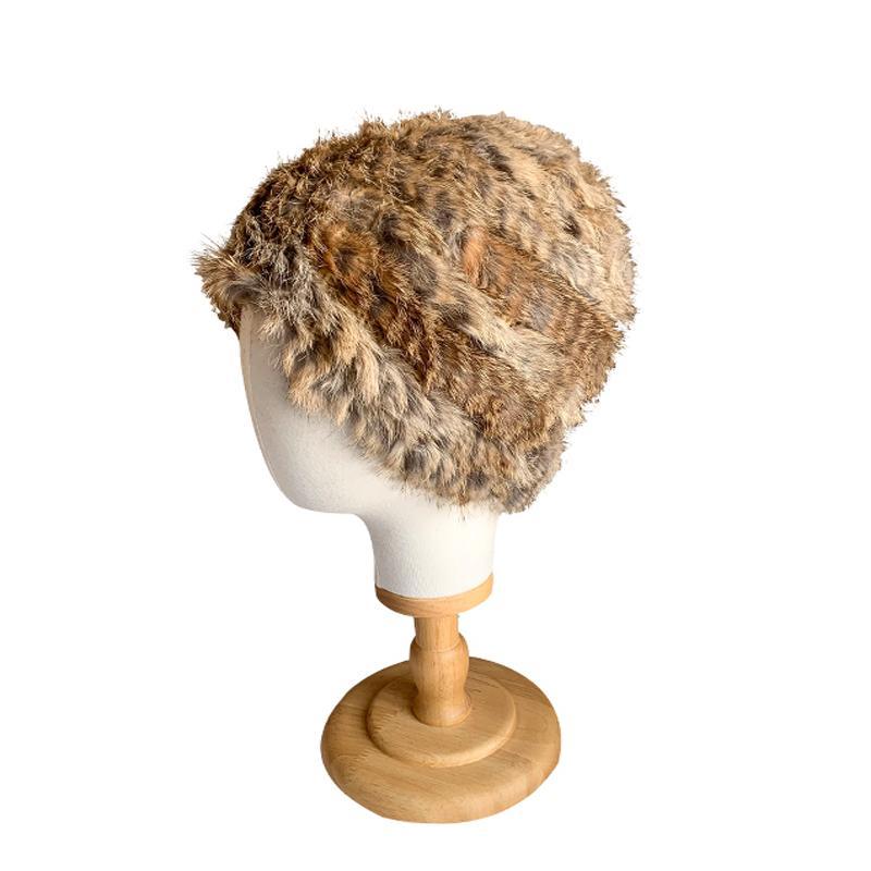 Nouvelle automne chapeaux de fourrure et d'hiver nouveau béret vintage bonnet de fourrure véritable mode couleur unie de casquettes tricotées chaud