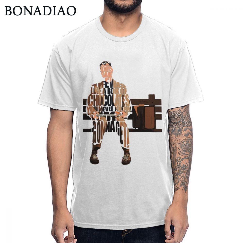 Çikolata Tee Gömlek Yaz Yeni Streetwear Of Yenilikçi Forrest Gump Tişörtlü Klasik Yaşam Is Like Box