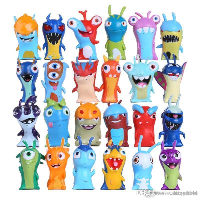 httoy 16/24pcs a set Slugterra Action Figures Toy 5cm Mini Slugterra Anime Figures Toys Doll Slugs Children Boys Toy