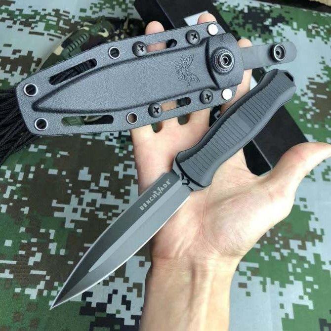 Nueva llegada de 2 colores de BENCHMADE Infiel 133-doble filo del cuchillo táctico Stright cuchillo de hoja fija el envío que acampa al aire libre del cuchillo BM133