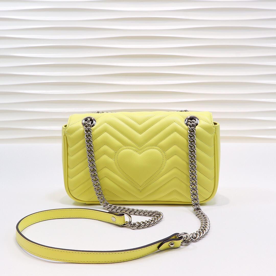 Diseñadores de lujo Messenger Bags Cadena de estilo de calidad Marmont Top Mujeres Bolsa Soho Silver Crossbody New Handbags Disco Hombro S XQLSW