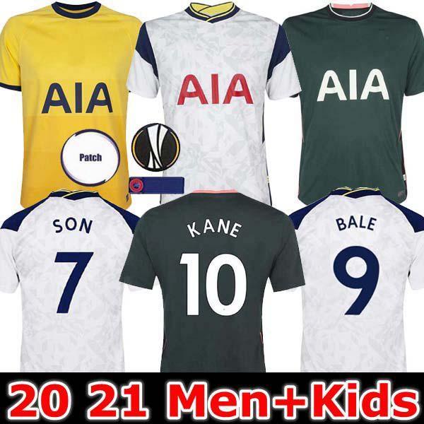 الرجال + KIDS 20 21 BALE KANE SON BERGWIJN NDOMBELE لكرة القدم الفانيلة 2020 2021 MORGAN DELE TOTTENHAM جيرسي لكرة القدم قميص عدة لوريس توتنهام منزل